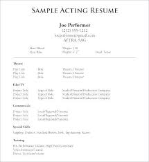 How To Make An Acting Resume For Beginners Beginner Acting Resume Template Topgamers Xyz