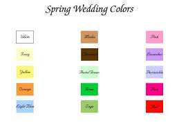 Wedding Color Chart Spring Wedding Themes And Ideas My Wedding July 29