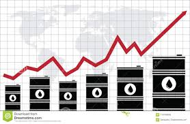 Vector Crude Oil Price Financial Chart Stock Vector
