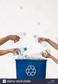 Recycling Plastic Bottles Children Recycling Plastic Bottles Stock Photo Royalty Free Image