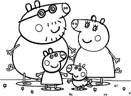 Peppa Pig Color Pages Pig Coloring Pages To Print S Pig Coloring