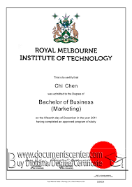university degree certificate sample rmit university diploma sample