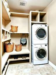 lg full size stackable washer dryer stacked and stunning concealed transitional laundry