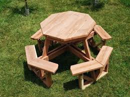 backyard picnic table octagon picnic table with umbrella plans the advantageous octagon diy outdoor wood picnic table