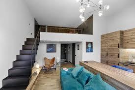 Mezzanine Bedroom Mezzanine Level Bedroom Adds Extra Space To Small Kiev Apartment