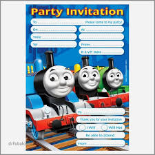 Thomas The Train Invitation Template Quinnbrettler Com