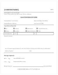 Sample Vacation Request Form Magnificent Employee Vacation Request Form Template Flybymediaco