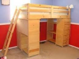 wood bunk bed with desk. Exellent With Bunk Bed Dresser Intended Wood Bed With Desk O
