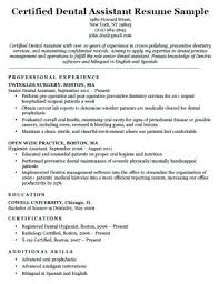 Certified Dental Assistant Resume Cover Letter Examples Dental ...