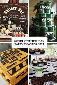 50th, 50th birthday, for men, masculine, milestone. 20 Fun 50th Birthday Party Ideas For Men Shelterness