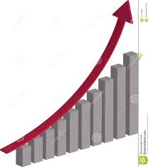 Stock Chart Up 3d Stock Chart Going Up Stock Vector Illustration Of