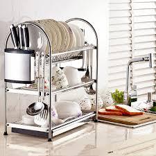 Kitchen Racks Stainless Steel Shoppy Dontell Stainless Steel Utensil 3 Tier Kitchen Rack