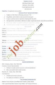 Objective For Resume Nursing Management New Grad Graduate School