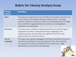english ii daily warm up use the graphic  rubric for literary analysis essay
