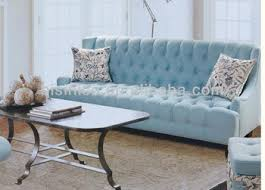 fashion design living room furniture simple stylish 3 seater sofa in azure color anese