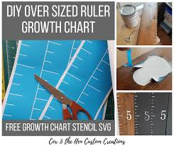 Diy Over Sized Ruler Growth Chart Cox The Hen Custom