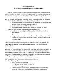 persuasive essay medieval times essays critical thinking