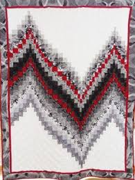 Blues Black White Descending Bargello Quilt Top 33.5  X 49.5 ... & No measure bargello quilt kit in grays, blacks, red, and white very fun to  make Adamdwight.com