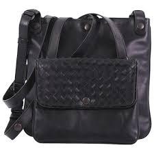 bottega veneta front pocket messenger bag leather with intrecciato detail small for