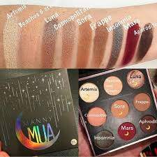 swatches of manny mua palette