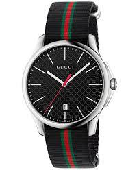 gucci watches for men. gucci men\u0027s swiss g-timeless black striped nylon nato strap watch 40mm ya126321 watches for men o
