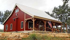 Small Picture Country Barn Home Kit w Open Porch 9 Pictures Metal Building