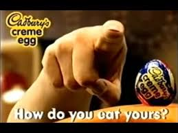 2001 Cadburys Creme Egg How Do You Eat Yours Finger Advert - YouTube