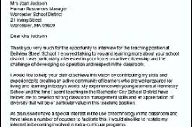 Thank You Letter After Teacher Interview Templatezet