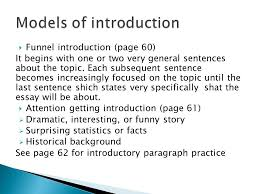 paragraph to essay ppt video online  6 models of introduction