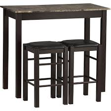 linon tavern 3 piece set including table and 2 counter stools