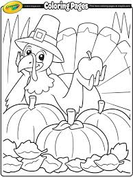 Cute hand draw coloring page with brave girl. Thanksgiving Turkey Cartoon Coloring Page Crayola Com