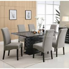 Fabric Chairs Dining Room Grey Dining Room Chair Grey Rustic Dining Table With Beautiful