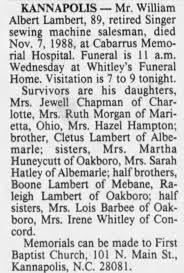 Obituary for William Albert Lambert (Aged 89) - Newspapers.com