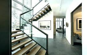glass stair railings interior terrific glass stair railing stair framing staircase modern with with glass railing