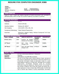 Resume For Computer Engineering Students Perfect Computer Engineering Resume Sample To Get Job Soon 22