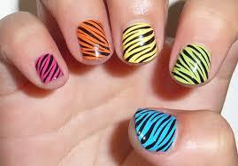 Zebra Styles Elegant Nail Art for Girls   Trendy Mods.Com