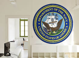 navy round wall rug