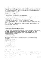job performance evaluation housekeeping job duties
