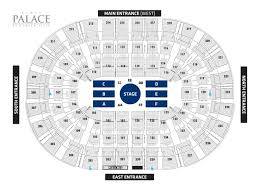 Palace Of Auburn Hills Seating Chart With Rows Palace Auburn Hills Seating Wajihome Co