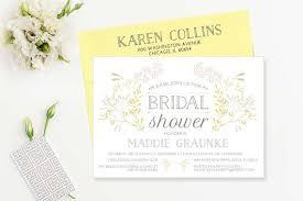 Bridal Shower Invitation Templates Impressive Elegant Botanical Bridal Shower Invitation By LetterLoftPrints O U