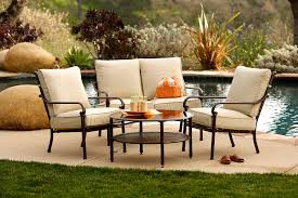 comfortable patio chairs aluminum chair: patio furniture sets with cream cushions patio chairs and small round table