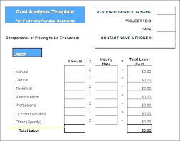 Cost Benefit Analysis Report Format Template Excel Microsoft X Beauteous Cost Analysis Format