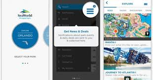 seaworld and busch gardens update their mobile apps with ride times interactive maps more