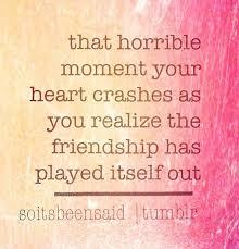Image result for friendship end