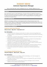 Department Store Manager Resumes Assistant Department Manager Resume Samples Qwikresume