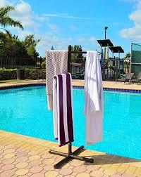 pool spa towel rack bronze premium extra tall towel tree outdoor pvc b00ta3ib9k