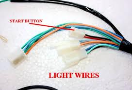 kick electric start engine wire wiring harness loom light wire pit bike wiring diagram electric start at Pit Bike Wiring Harness Kits