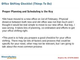 Office Shifting Checklist How To Prepare And Move Your Office