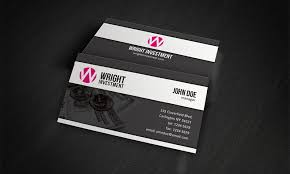 Free Business Card Templates Accounting Financial Investment