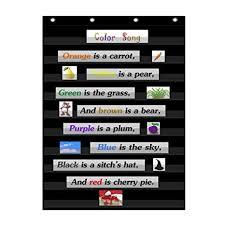 Godery Prek 12 Standard Pocket Chart For Classroom Centers Wall Words Classroom Pocket Chart Homeschool Teaching Supplies Black Pocket Chart Black